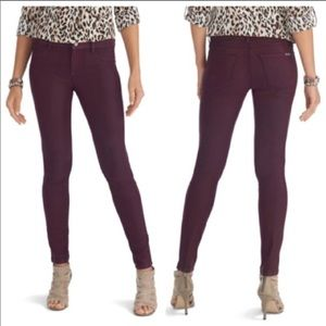 Just In! WHBM Maroon Coated Skinny Jeans